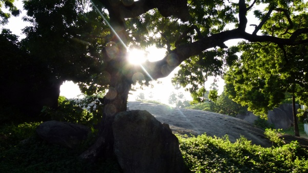 Soleil couchant sur Mahabalipuram